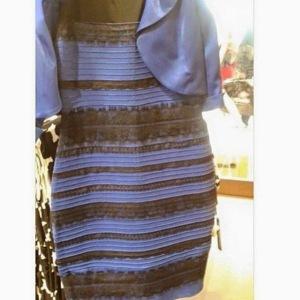 black and blue dress